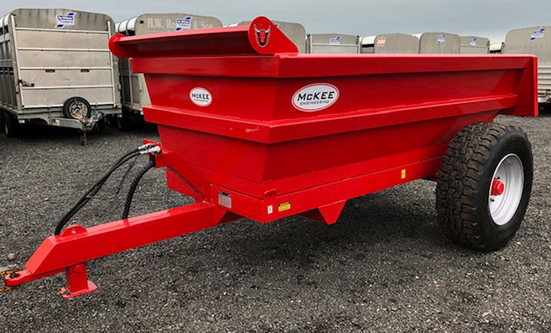 McKee Single Axle 8 Ton Dump Trailer